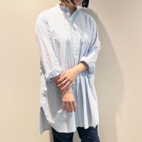 バンドカラーロングシャツ VQG WOMEN