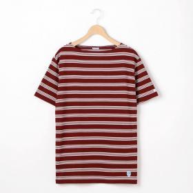 半袖ボートネックTシャツ(3STRIPE) MEN