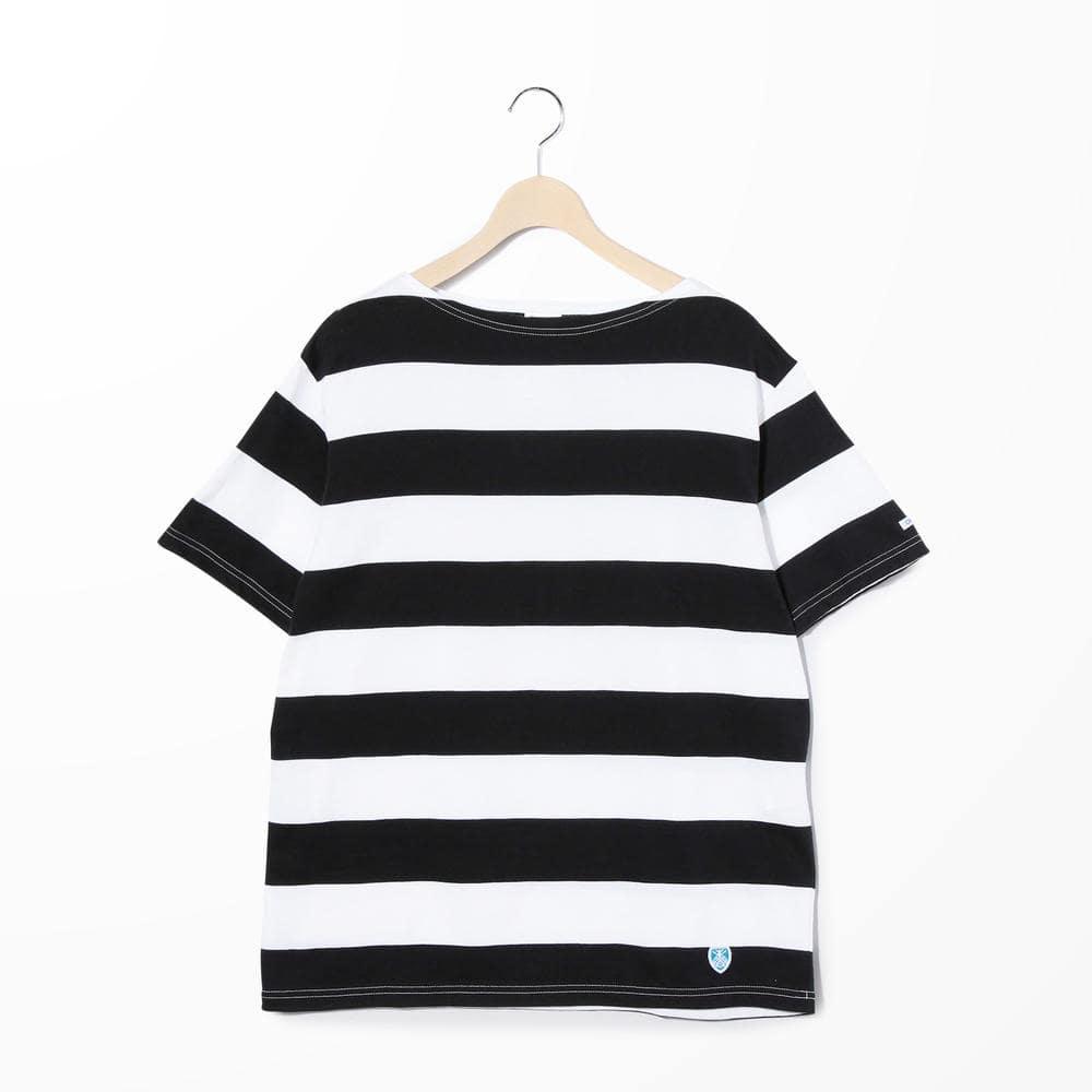 【OUTLET】半袖ボートネックTシャツ(6.5cmボーダー) MEN