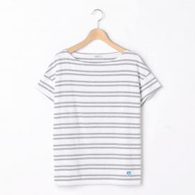 【OUTLET】ルーズボートネックTシャツ(2STRIPE) WOMEN