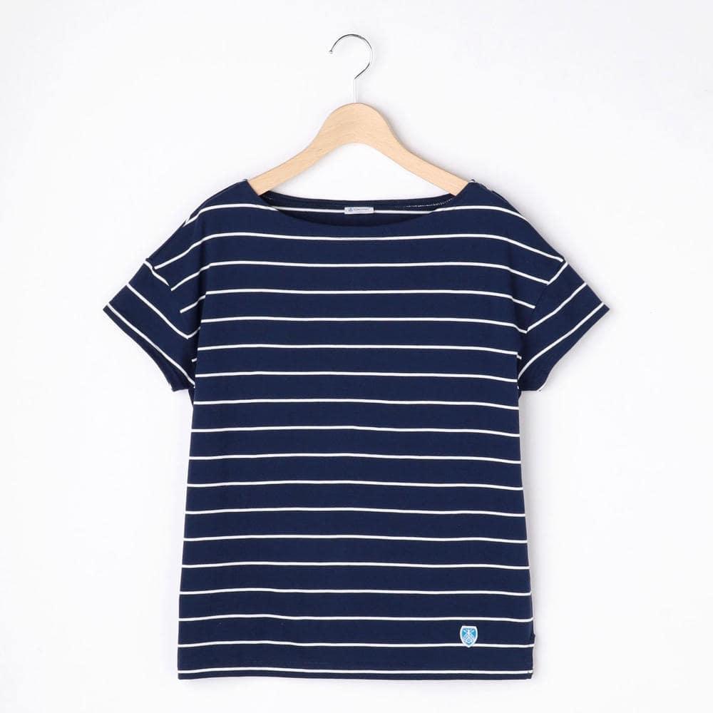 【OUTLET】ルーズボートネックTシャツ PIN WOMEN