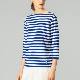 【フェア対象】7分袖ボートネックTシャツ EQ WOMEN