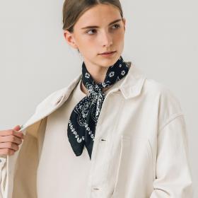【先行予約】シルクスカーフ bandana 65×65