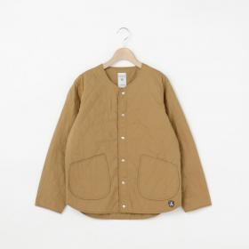 【フェア対象】タイプライター キルトカラーレスジャケット WOMEN