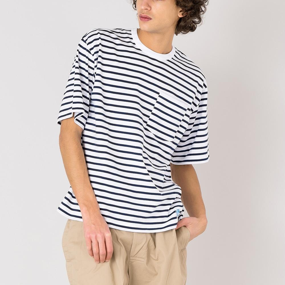 【OUTLET】ボーダーポケットTシャツ MEN