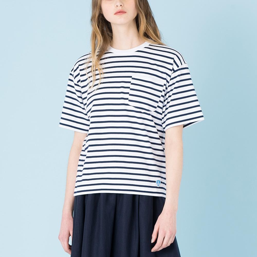 【OUTLET】ボーダーポケットTシャツ WOMEN