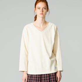 【フェア対象】コットンロード VネックTシャツ SOLID WOMEN