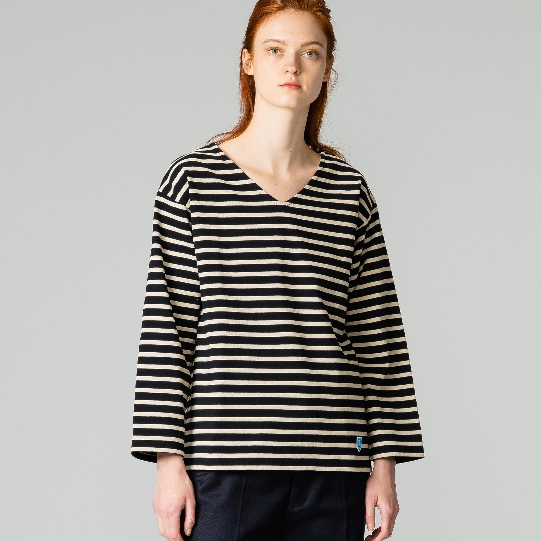 【OUTLET】コットンロード VネックTシャツ WOMEN