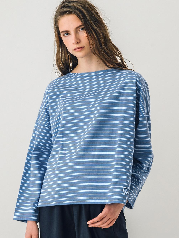 ワイドボートネックTシャツ 2STRIPE WOMEN