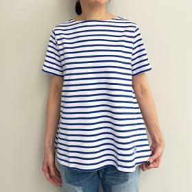 ボートネック フレアTシャツ WOMEN