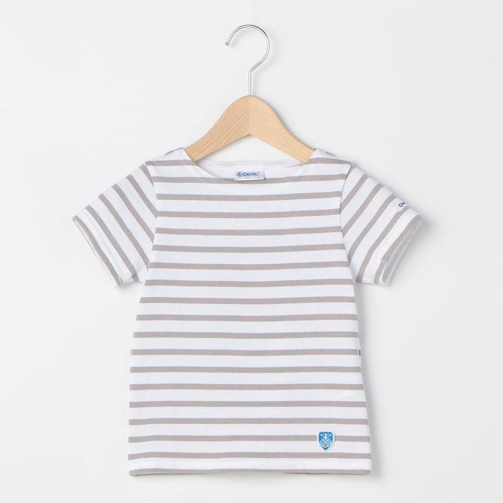 キッズ ボートネックTシャツ STRIPE