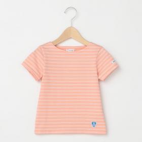 キッズ ボートネックTシャツ 2STRIPE
