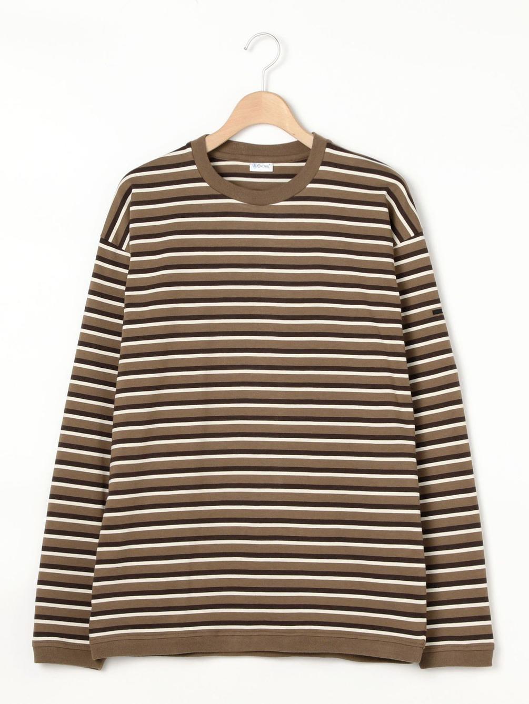 【OUTLET】ハイカウントジャージー クルーネックTシャツ STRIPE MEN