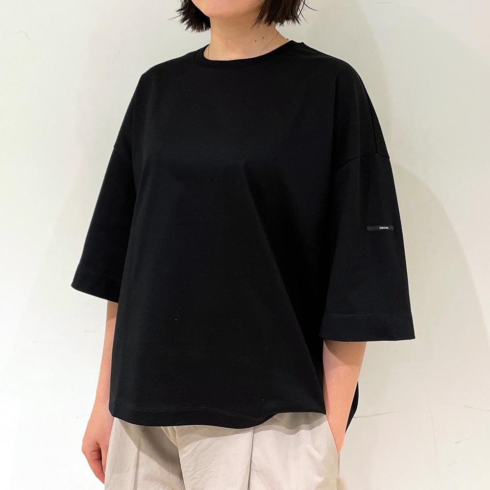 【ノベルティ対象】〈別注〉マーセライズコットン ハーフスリーブTシャツ SOLID WOMEN