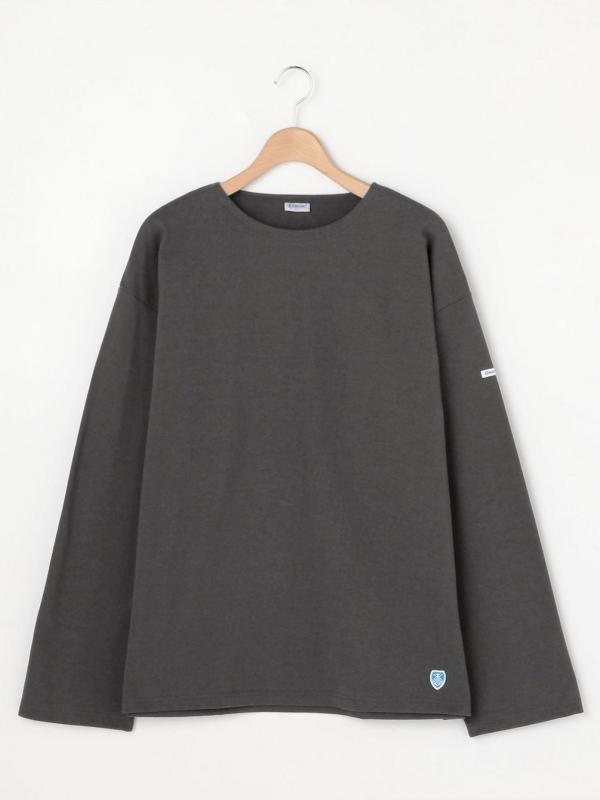ORCIVAL 【OUTLET】〈別注〉裏起毛コットンロード クルーネックシャツ SOLID MEN