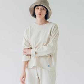 【フェア対象】〈別注〉裏起毛コットンロード クルーネックシャツ SOLID WOMEN