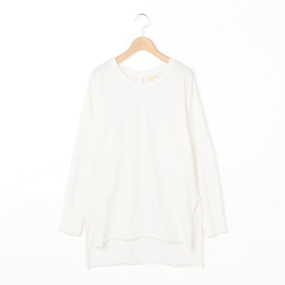 バックボタンロングTシャツ WOMEN