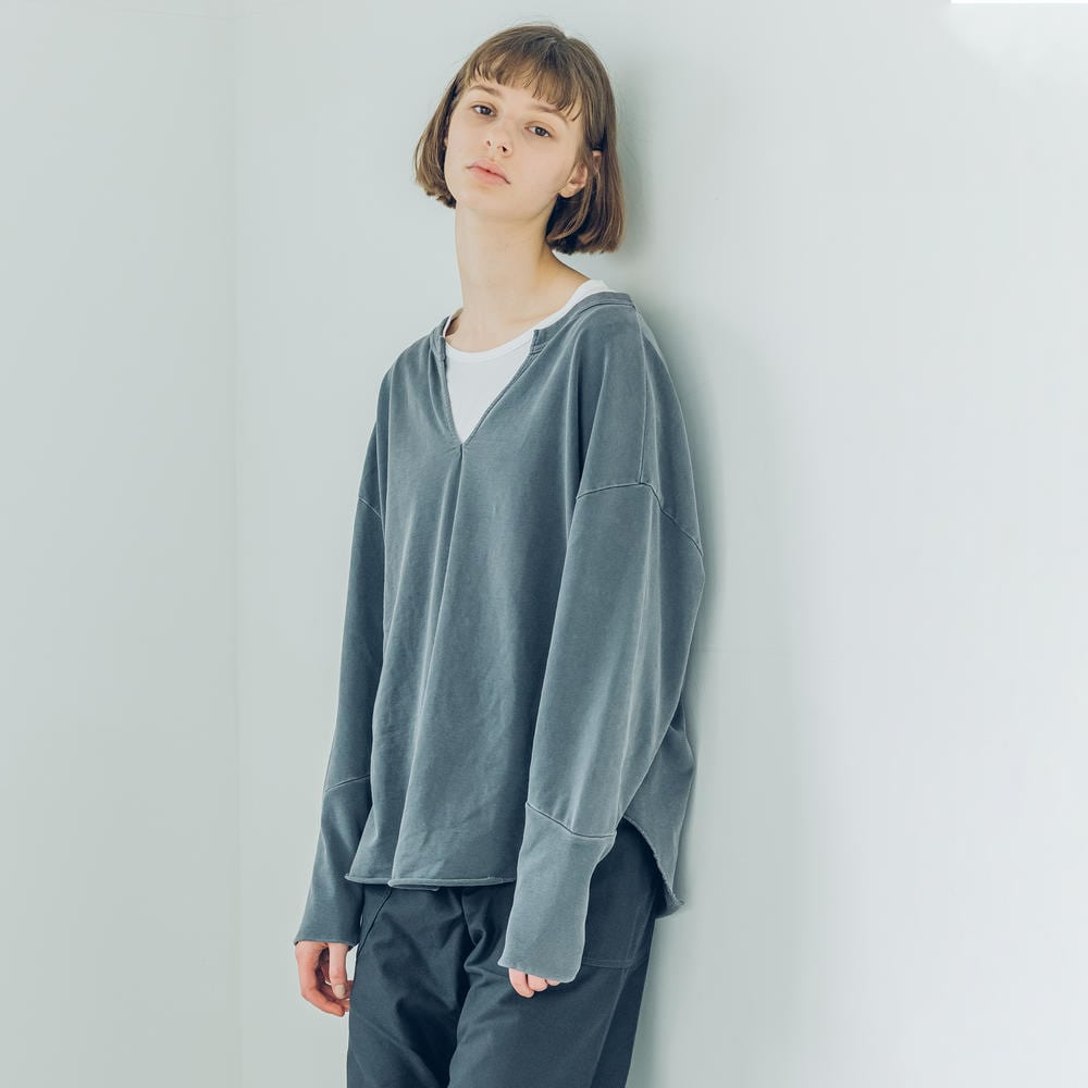【OUTLET】〈別注〉キーネック 長袖カットソー WOMEN