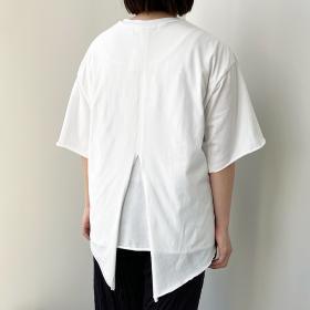 バックレイヤードTシャツ WHITE WOMEN