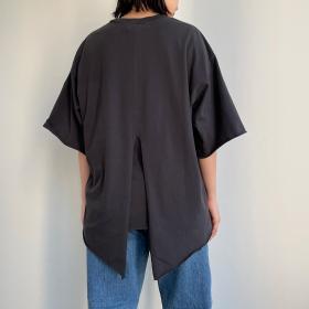 バックレイヤードTシャツ BLACK WOMEN