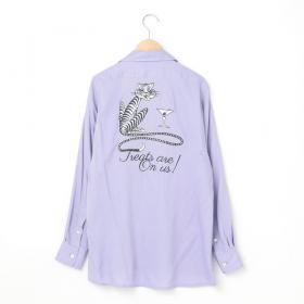 ボーリングシャツ LAVENDER WOMEN