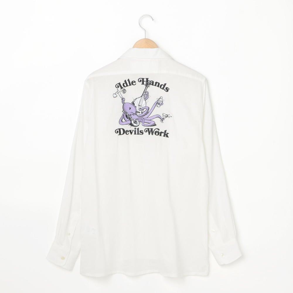 ボーリングシャツ WHITE MEN