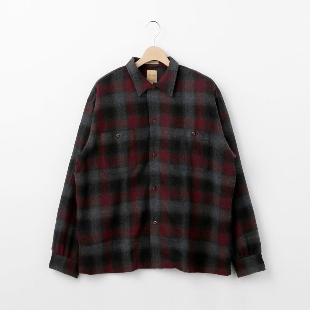 ウール チェックシャツ MEN
