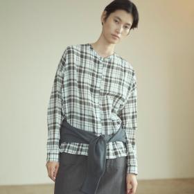 バックフリルシャツ  WOMEN