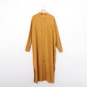 【OUTLET】バンドカラーシャツワンピース WOMEN