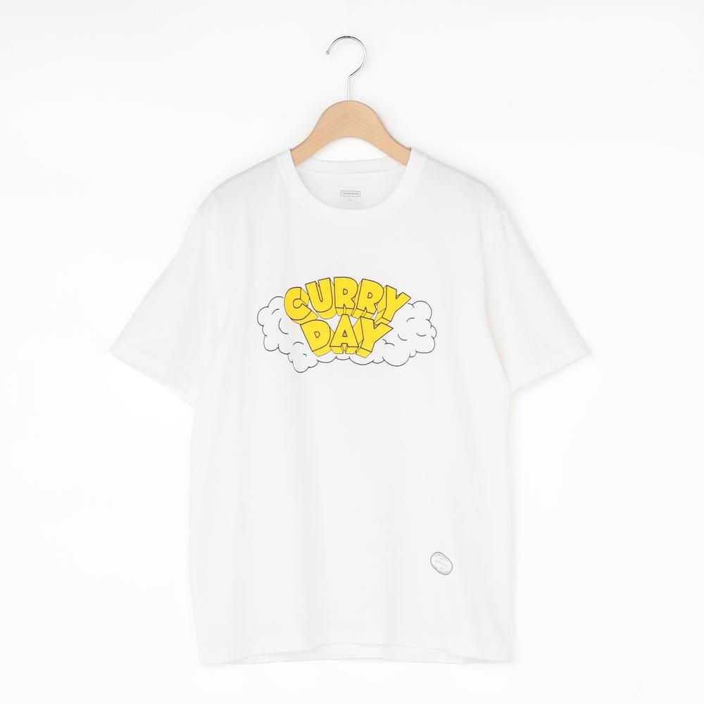 CURRY 半袖Tシャツ WHITE WOMEN