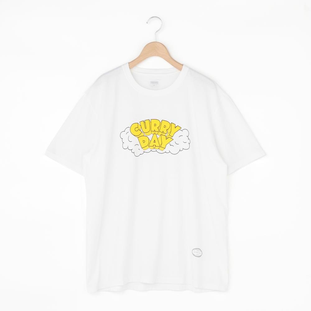 【OUTLET】CURRY 半袖Tシャツ WHITE MEN