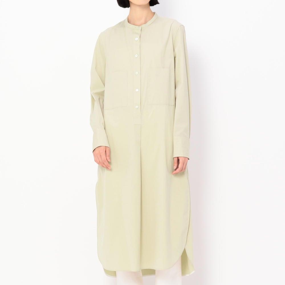 ノーカラー シャツドレス WOMEN