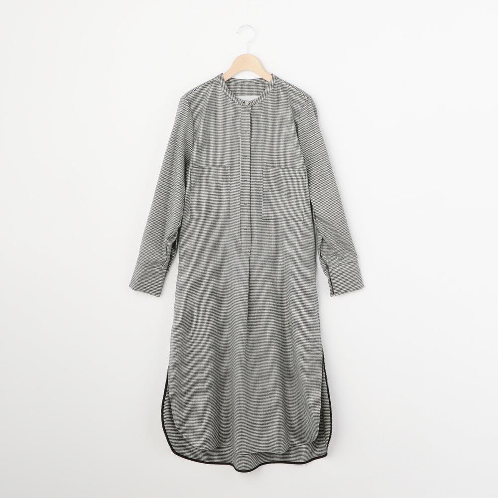 ウール ノーカラーシャツドレス H/T WOMEN