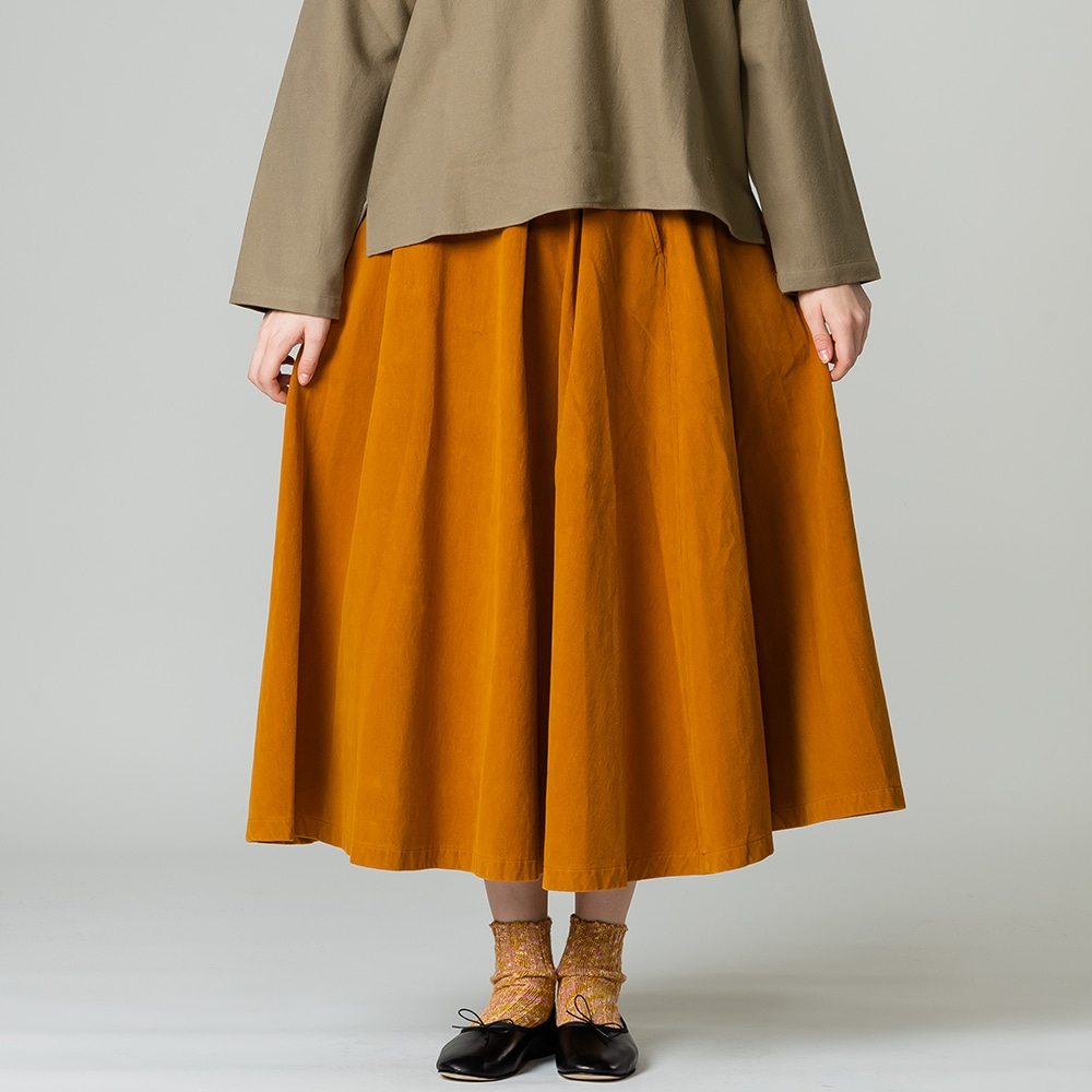 【OUTLET】モールスキンスカート WOMEN
