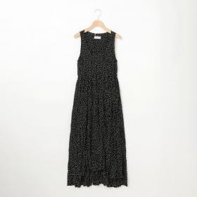 ドットスリーブレスドレス WOMEN