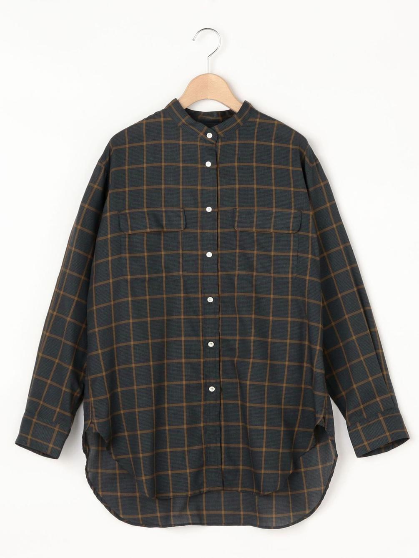 【OUTLET】フロントポケットスタンドカラーシャツ WOMEN