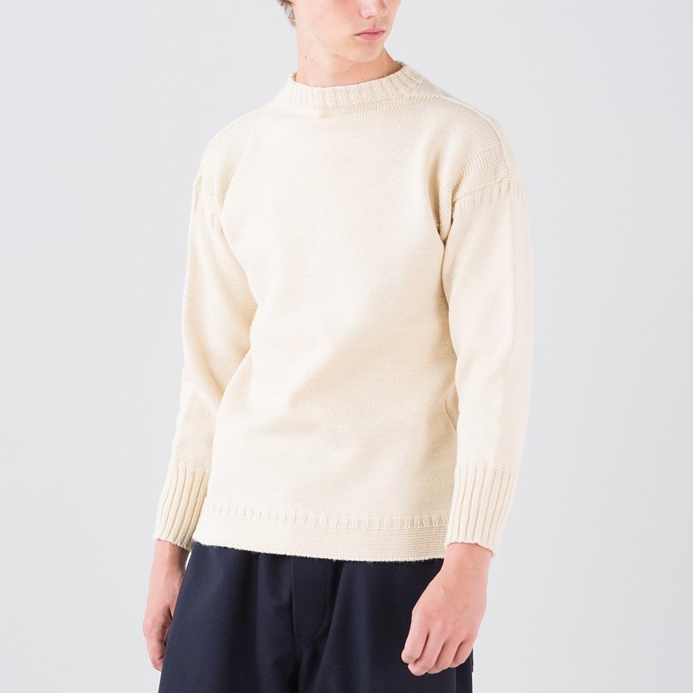 トラディショナル ウールガンジーセーター MEN