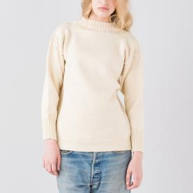 トラディショナル ウールガンジーセーター WOMEN