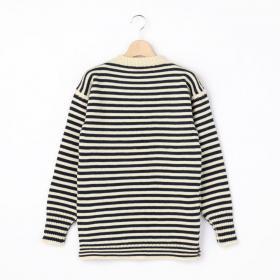 トラディショナル ウールガンジーセーター STRIPE WOMEN