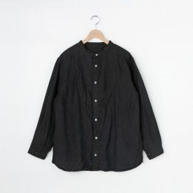 リネンバンドカラーシャツ BLK MEN