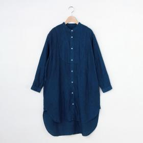 リネンバンドカラービッグシャツ WOMEN