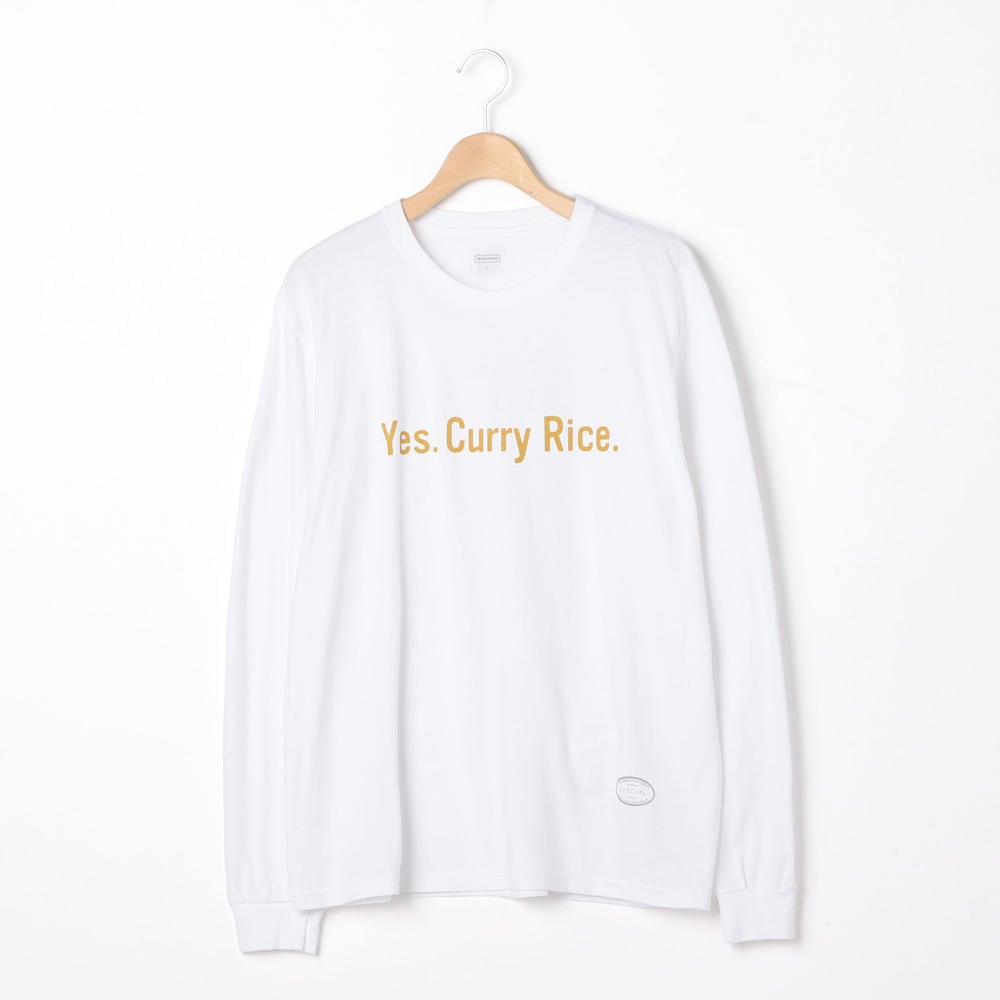 〈別注〉長袖プリントTシャツ YES MEN