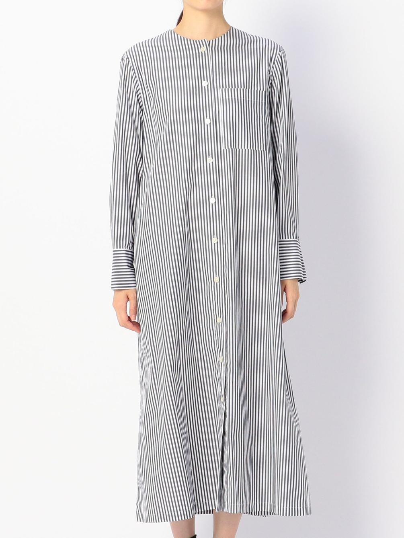 ノーカラーロングシャツドレス WOMEN