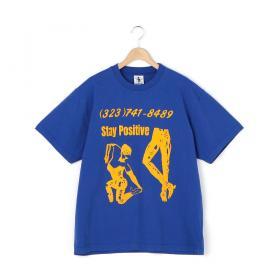 プリントTシャツ STAY POSITIVE MEN