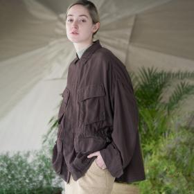 コットンシルクツイル ミリタリージャケット WOMEN