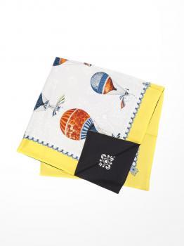 リバーシブル シルクスカーフ 108×108