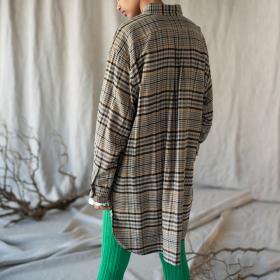 シルクフランネル オーバーサイズシャツ WOMEN