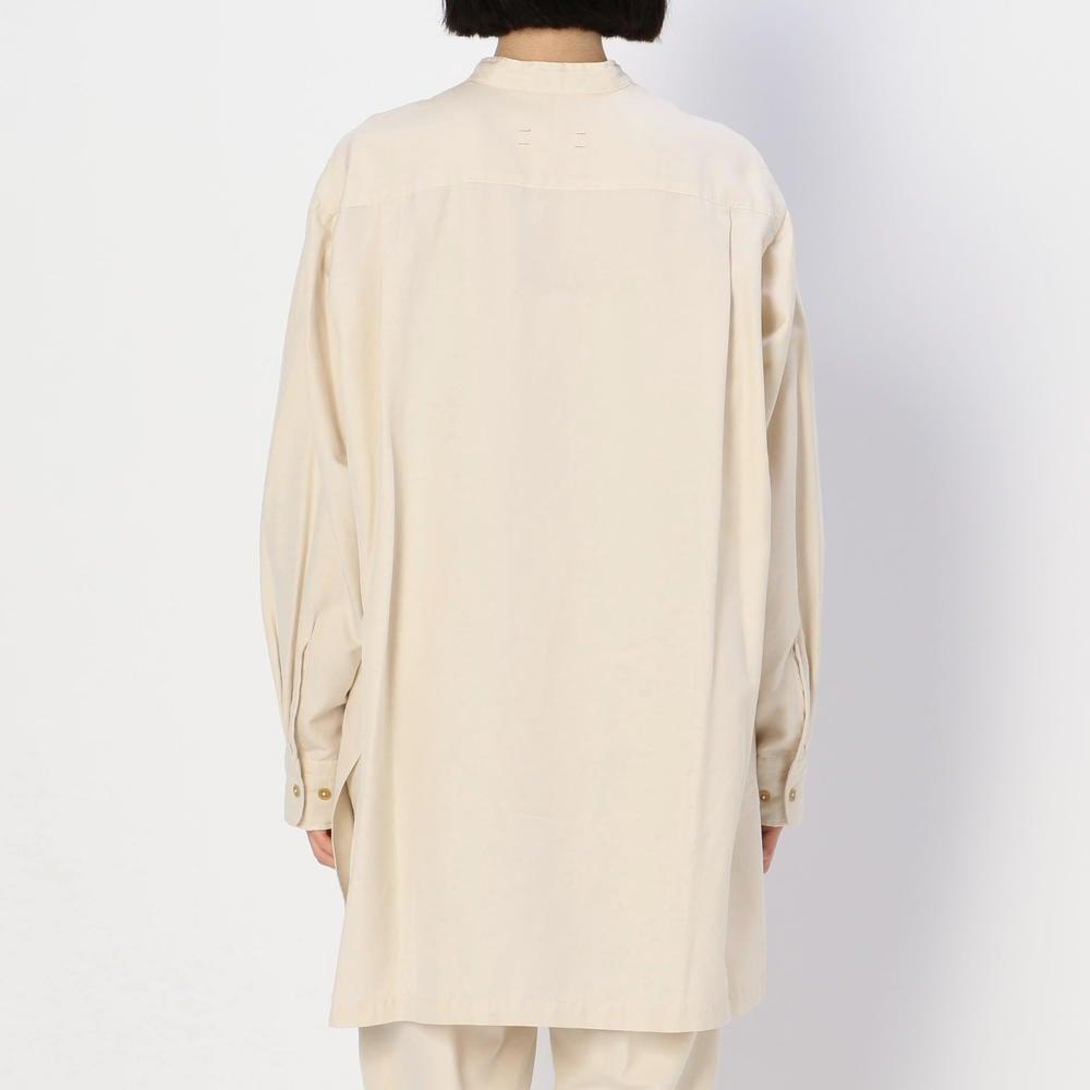 シルクコットンツイル スタンドカラーシャツ WOMEN