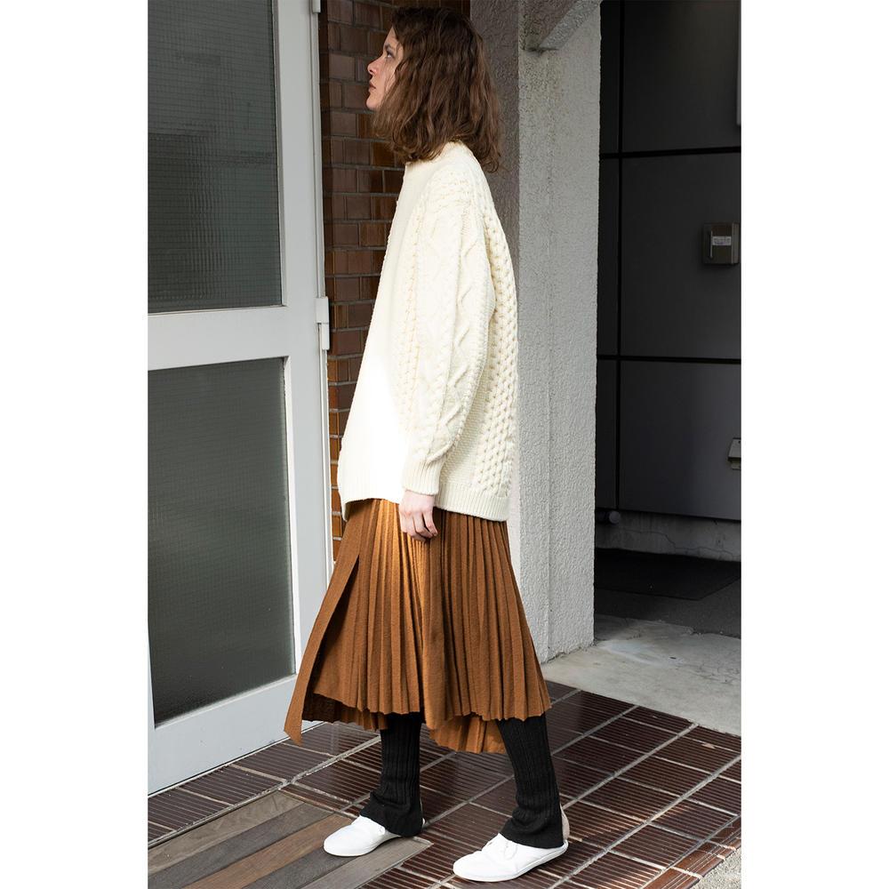 エクストラキッドモヘア プリーツニットスカート WOMEN