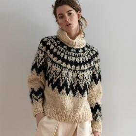 カシミヤ ハンドニットセーター WOMEN